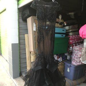 Dresses & Skirts - black sequin mermaid dress